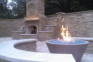 "Asian Wok Fire Bowl #2 48"" x24"" Fire Bowls / fire Pits Concrete Creations"