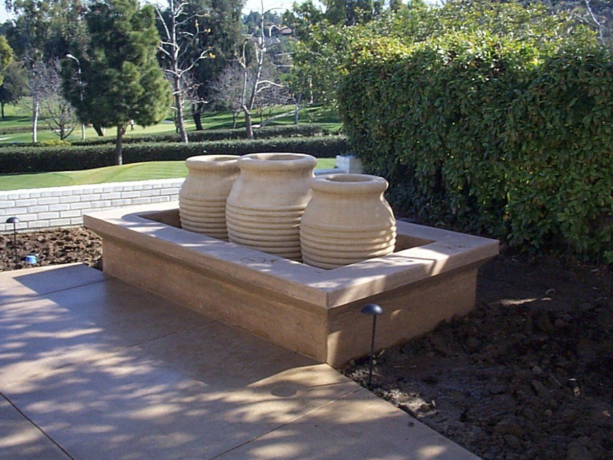 Durrah Ribbed Jar Water Features Concrete Creations