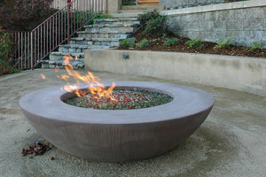 "Simplicity Edge Fire Bowl 60"" x18"" 12"" lip, Coffee color Fire Bowls / fire Pits Concrete Creations"