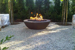 "Simplicity Edge Fire Bowl 48"" x18"" 6"" lip Java Fire Bowls / fire Pits Concrete Creations"