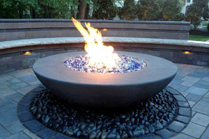 "Simplicity Edge Fire Bowl 60"" x18"" 12"" lip, Slate Color Fire Bowls / fire Pits Concrete Creations"