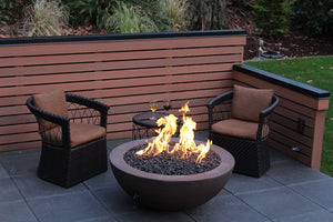"Simplicity Edge 44"" x17"" -5"" lip Java Color Fire Bowls / fire Pits Concrete Creations"