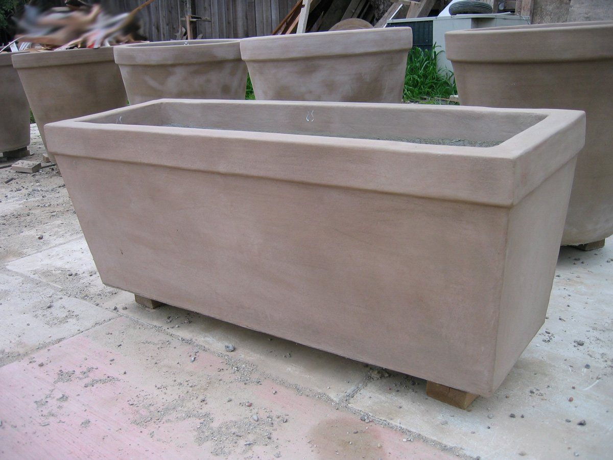 "Wilton Rectangular 16"" w x 48"" l x 18"" h Planter Boxes Concrete Creations"
