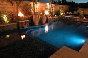 Water & Fire Fountain Fire Bowls / fire Pits Concrete Creations