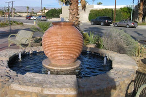 The Aladdin Ribbed Fountain Water Features Concrete Creations