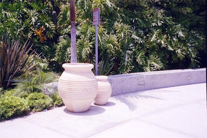 Durra Ribbed Trash rec. Trash/Ash Receptacles Concrete Creations