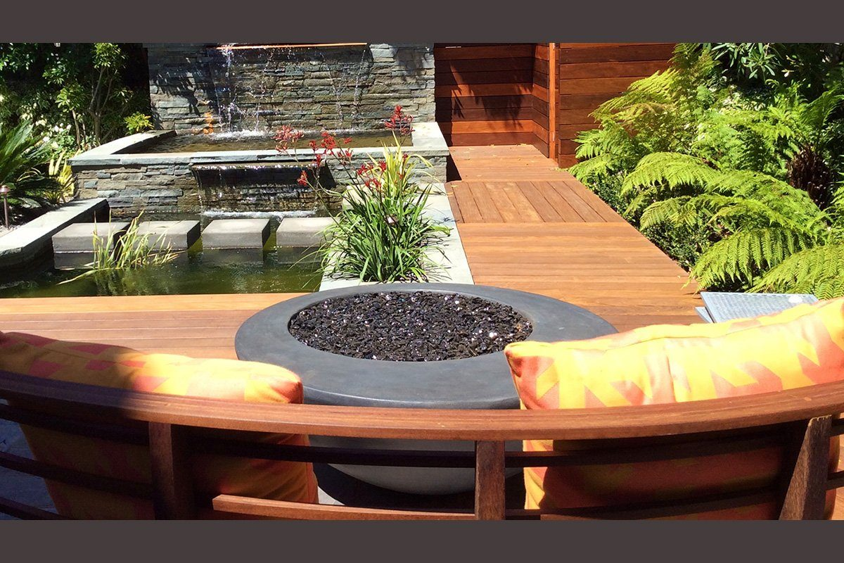 "Odyssey Fire Bowl 48"" x18"" Slate Color Fire Bowls / fire Pits Concrete Creations"