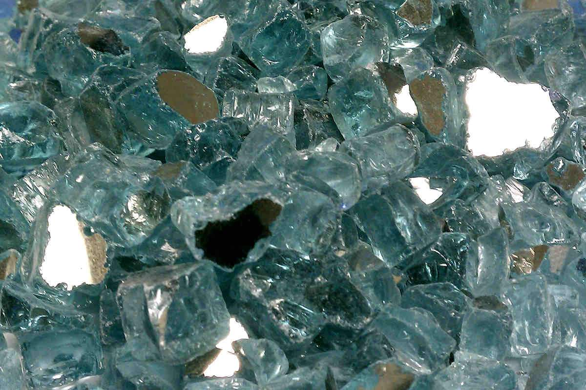 "American Fire Glass - Azuria Reflective 1/2"" Fire glass american fire glass"