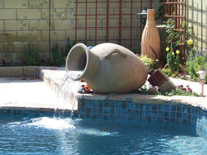 "Acropolis Jar Fountain 25"" x 42"" Water Features Concrete Creations"