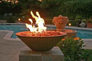 "Asian Wok Fire bowl #1 31"" x 10"" Bronze Color Fire Bowls / fire Pits Concrete Creations"