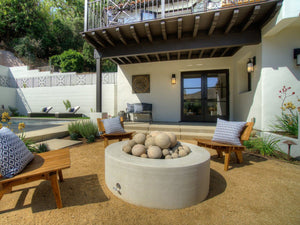 Cilindro Edge Fire Table Fire Bowls / fire Pits ConcreteCreationsLA