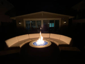 "Simplicity Edge 54"" x18"" with 8"" lip in Natural Concrete Color Fire Bowls / fire Pits ConcreteCreationsLA"