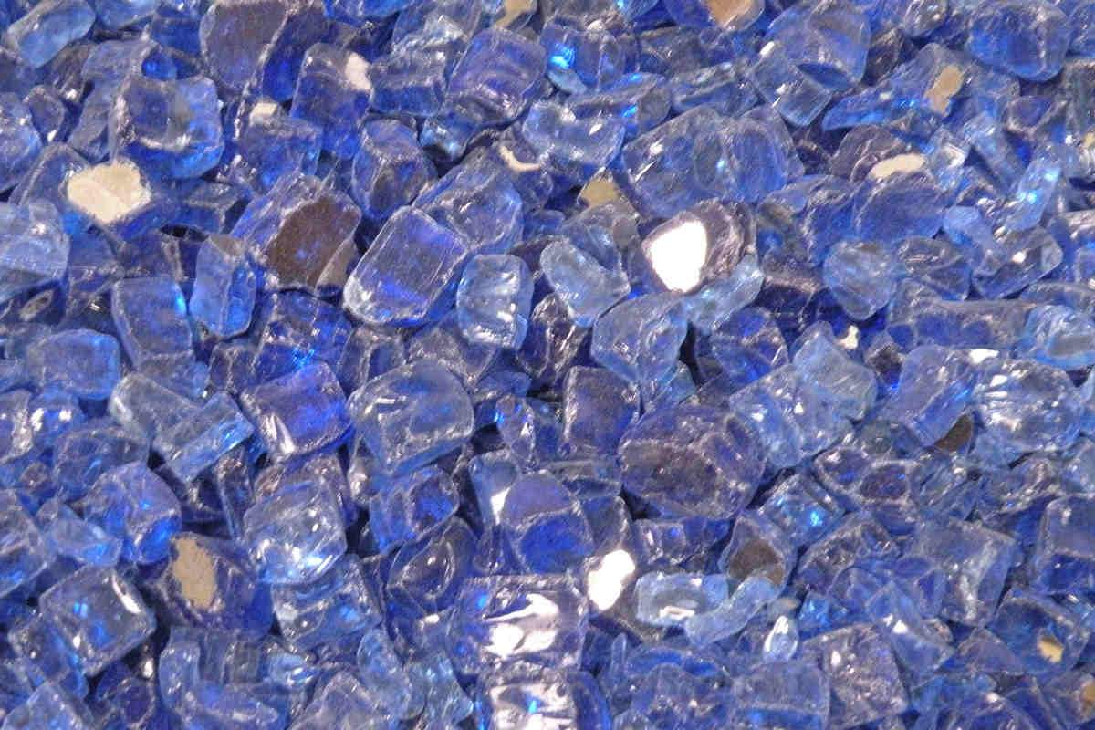 "American Fire Glass - Cobalt Blue Reflective 1/2"" Fire glass american fire glass"