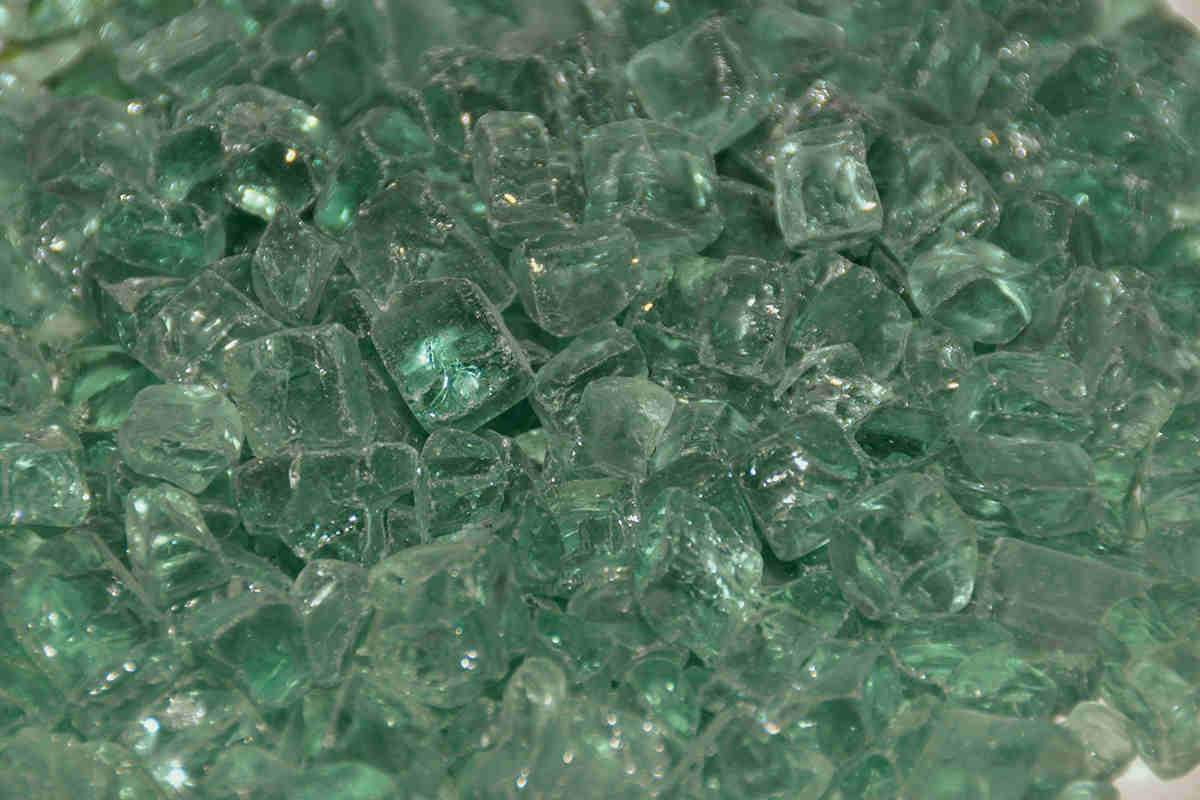 "American Fire Glass - Evergreen 1/2"" Fire glass american fire glass"