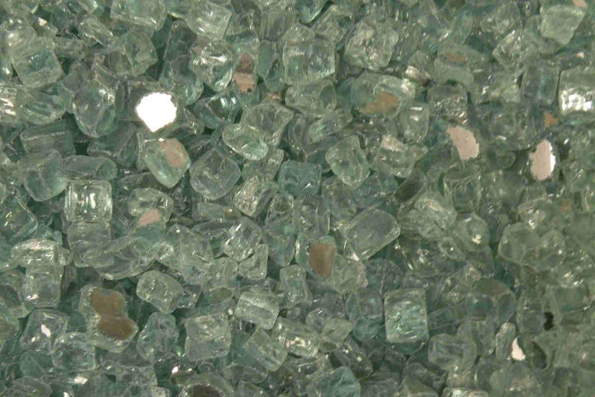 "American Fire Glass - Evergreen Reflective 1/2"" Fire glass american fire glass"
