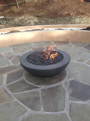Simplicity Edge Fire Bowl 37 x 13.5 Slate Concrete Creations