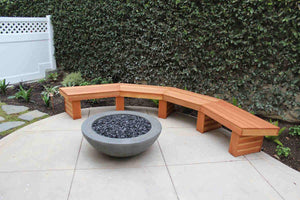 "Simplicity Edge Fire Bowl 37"" x 13.5"" Smoke Gray Concrete Creations"