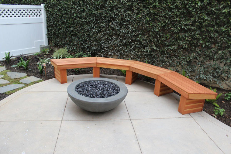 "Simplicity Edge Fire Bowl 37"" x 13.5"" Smoke Gray"