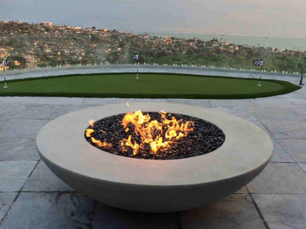 "Simplicity Edge Fire Bowl 72"" x18"" - 14"" Lip Silver Gray"