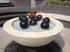 "Simplicity Edge Fire Bowl 48 x 18""- 6"" lip Pearl White Concrete Creations"