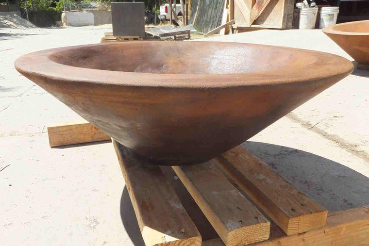 "Asian Wok Fire Bowl #1 31"" x 10"" Mahogany Acid"