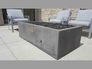 Geo Box Rectangular Fire Pit Fire Bowls / fire Pits Concrete Creations
