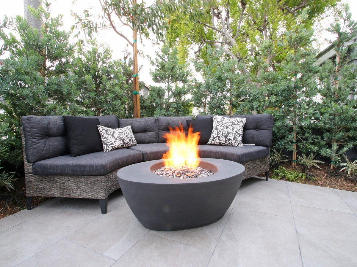 Ovale Edge Fire bowl fire table Fire Bowls / fire Pits ConcreteCreationsLA