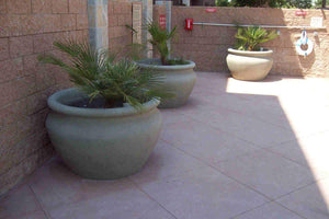 "Manara Pot 48"" x 30"" in Sage Green Concrete Creations"
