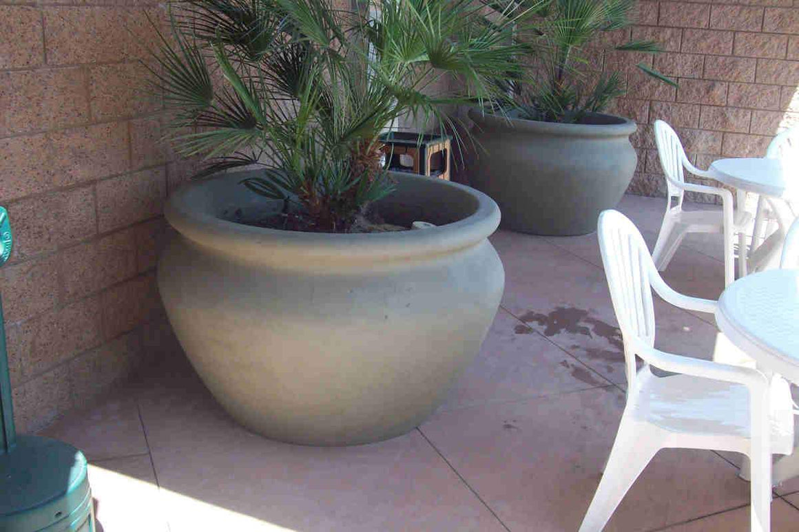 "Manara Pot 48"" x 30"" in Sage Green"