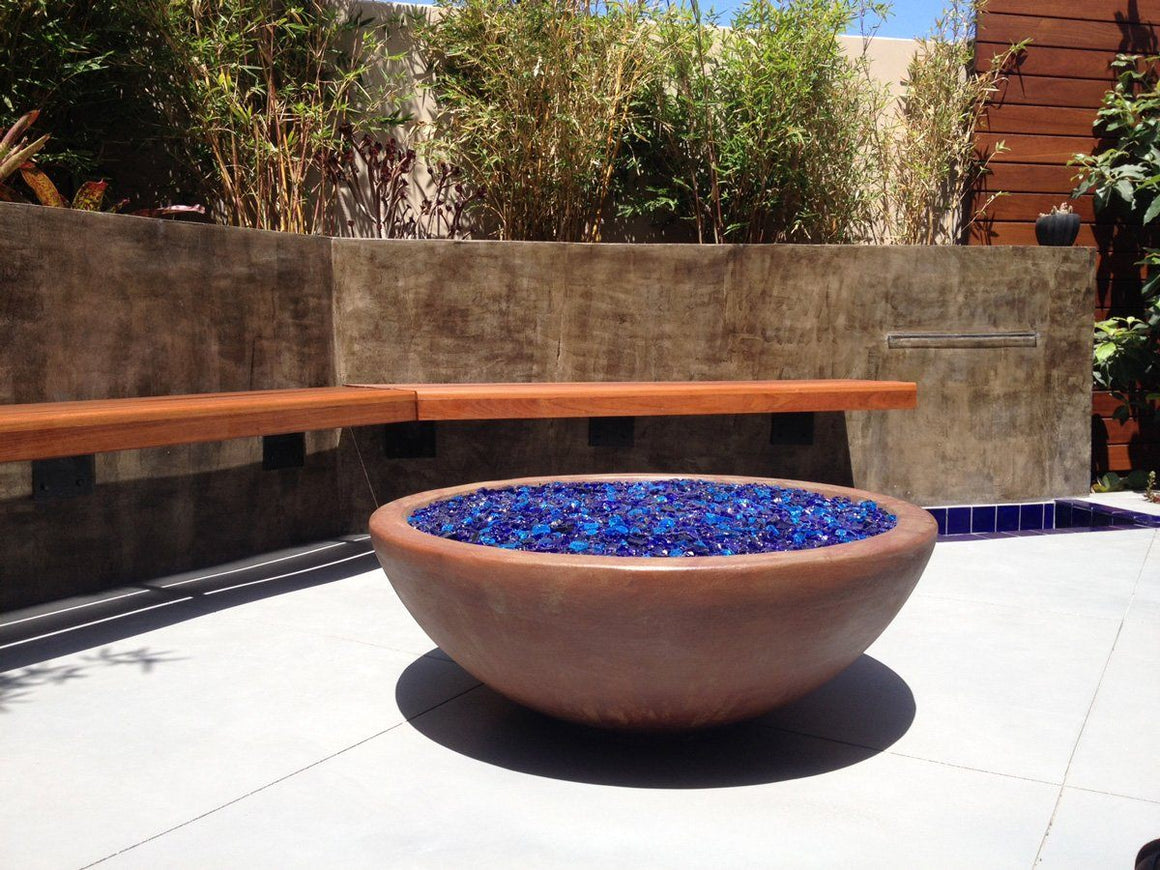 Simplicity Fire Bowl smooth #90 finish Acid treatment of Mahogany and Mission Brown and Matte sealer.