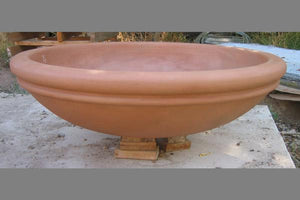 "Meron Ribbed- Fire Bowl 43"" x12"" -Paloma Fire Bowls / fire Pits Concrete Creations"