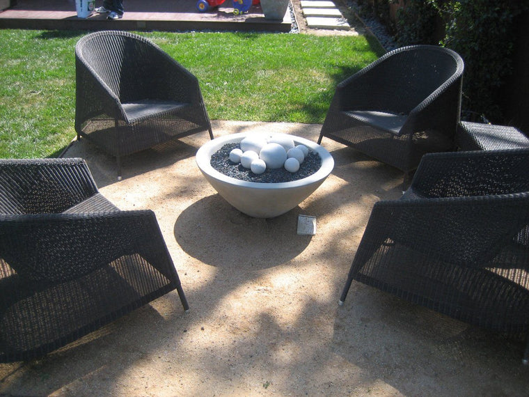 "Wok Fire Bowl 30"" x12"" Natural Concrete"