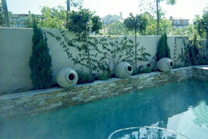 Aladdin Ribbed Tilted Water Features Concrete Creations