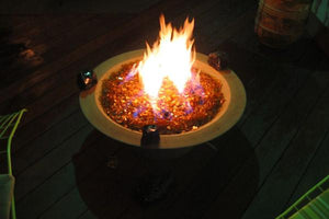 Wok with Leg Fire Bowls / fire Pits Concrete Creations