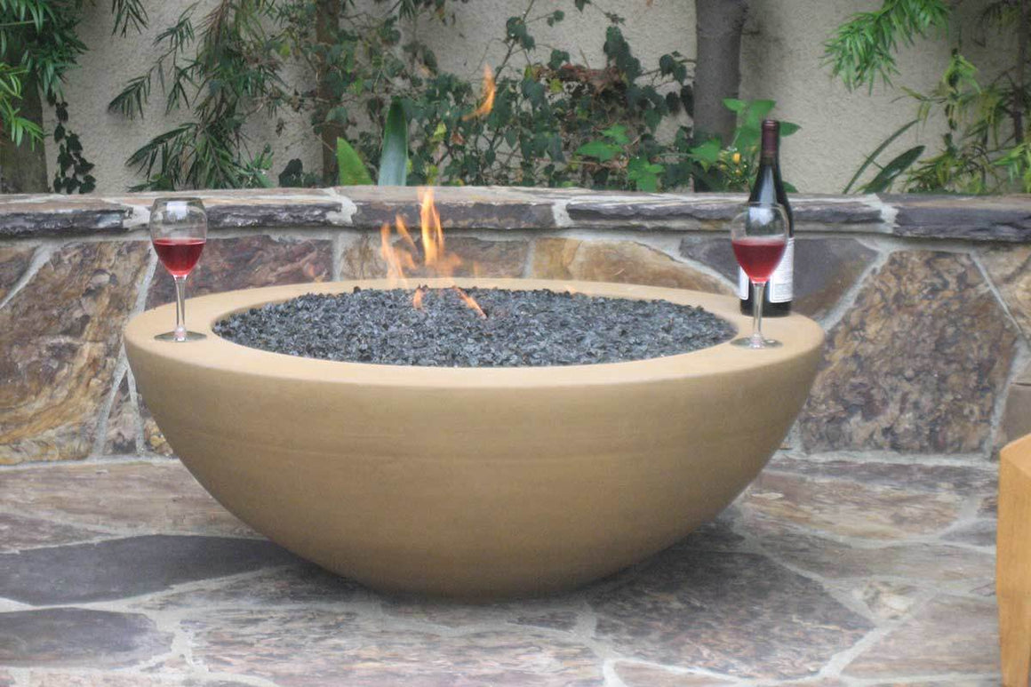 "Simplicity Edge Fire Bowl 40"" x15"" 5"" lip, Spanish Gold"