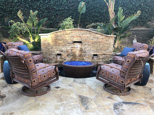 Meron Ribbed Oval Fire bowl Fire Bowls / fire Pits Concrete Creations