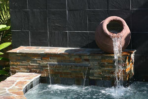 Cauldron Ribbed Fountain Water Features Concrete Creations