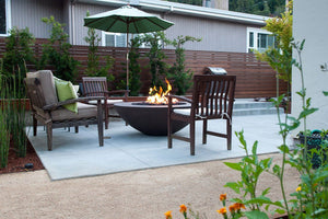 "Simplicity Edge 54"" x 18"" 10"" lip in Java color Fire Bowls / fire Pits Concrete Creations"