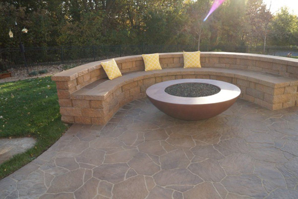 "Simplicity Edge Fire Bowl 60"" x18"" 12"" lip, Rustic Red Color Fire Bowls / fire Pits Concrete Creations"