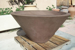 "Asian Wok Fire Bowl #2 60"" x 30"" Fire Bowls / fire Pits Concrete Creations"