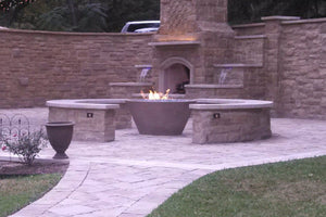 "Copy of Asian Wok # 2 48"" x24"" Fire Bowls / fire Pits Concrete Creations"