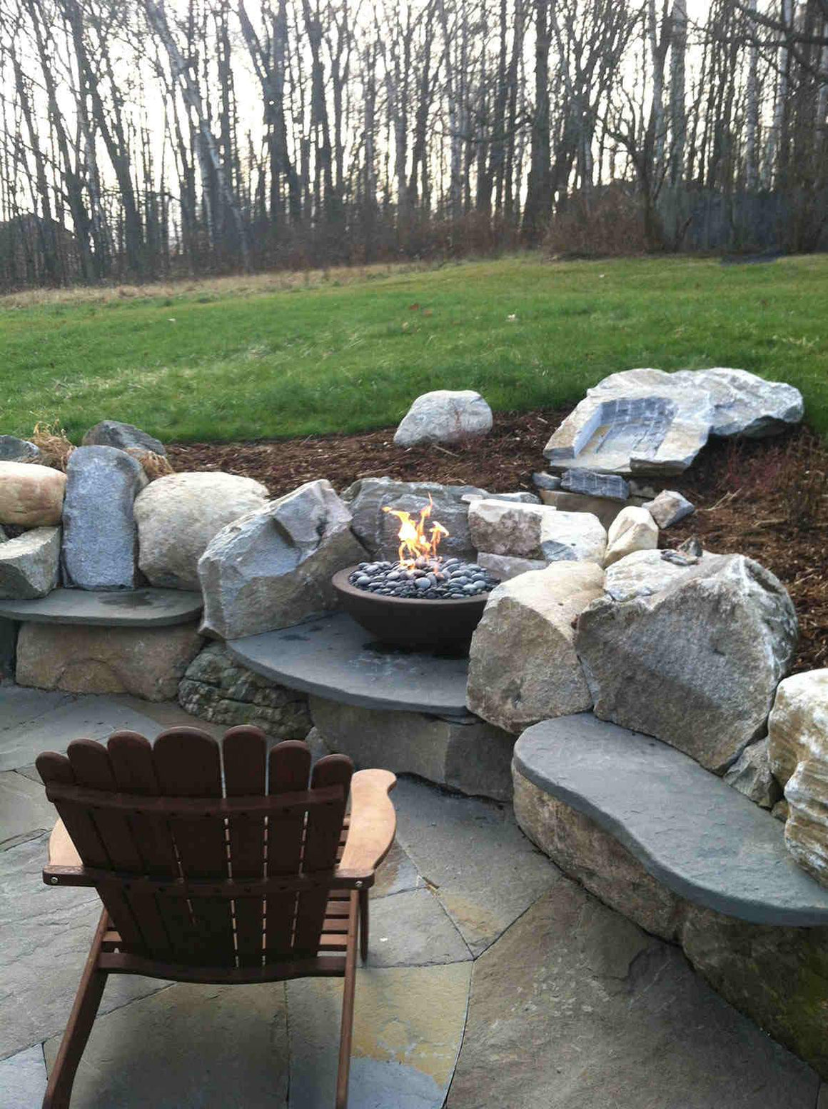 "Simplicity Fire Bowl 30"" x12"" - Java Color"