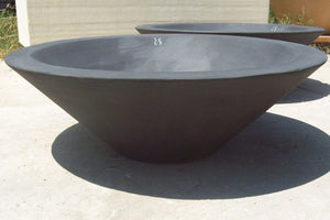 "Asian Wok Fire Bowl #1 36"" x 12"" Ebony Color Fire Bowls / fire Pits Concrete Creations"