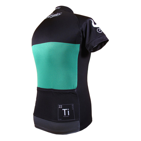 Aero jersey with full hidden zipper and silicone waist gripper