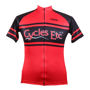 Curve Custom Pro Cycling Jersey with silicone waist gripper, full hidden zipper, and zip key pocket