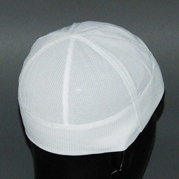 Under helmet cycling cap with mesh fabric