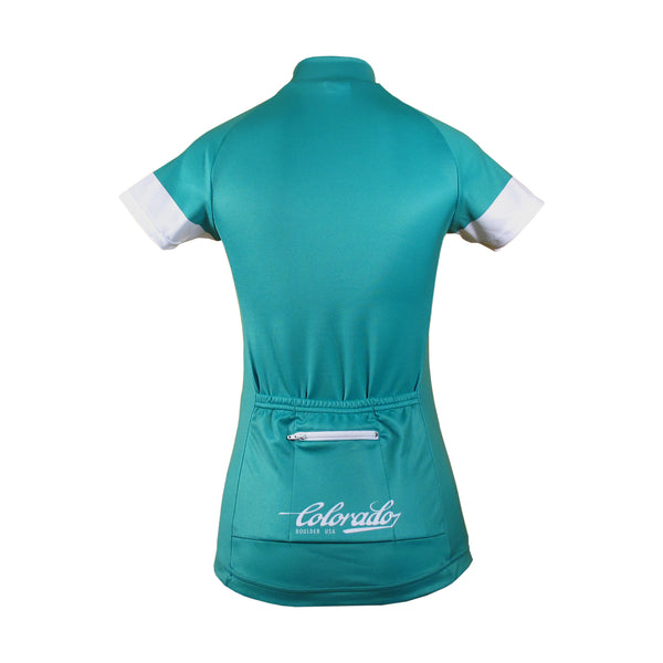 Custom Womens Pro Cycling Jersey with microfiber fabric and silicone waist grip