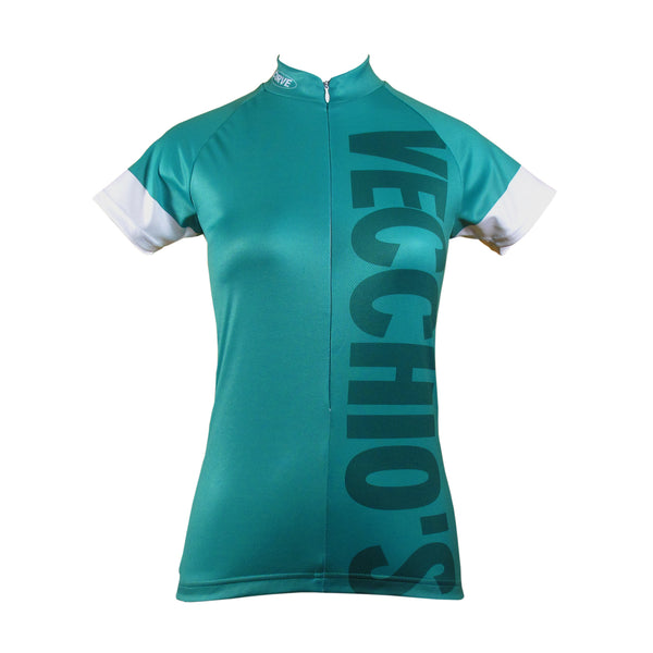 Custom Womens Pro Cycling Jersey with microfiber fabric and raglan sleeves