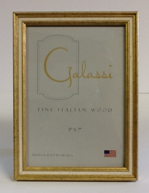 Italian Wood Frame Gold & Cream