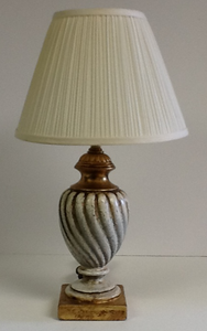 Italian Lamp Ceramic Gold & Cream